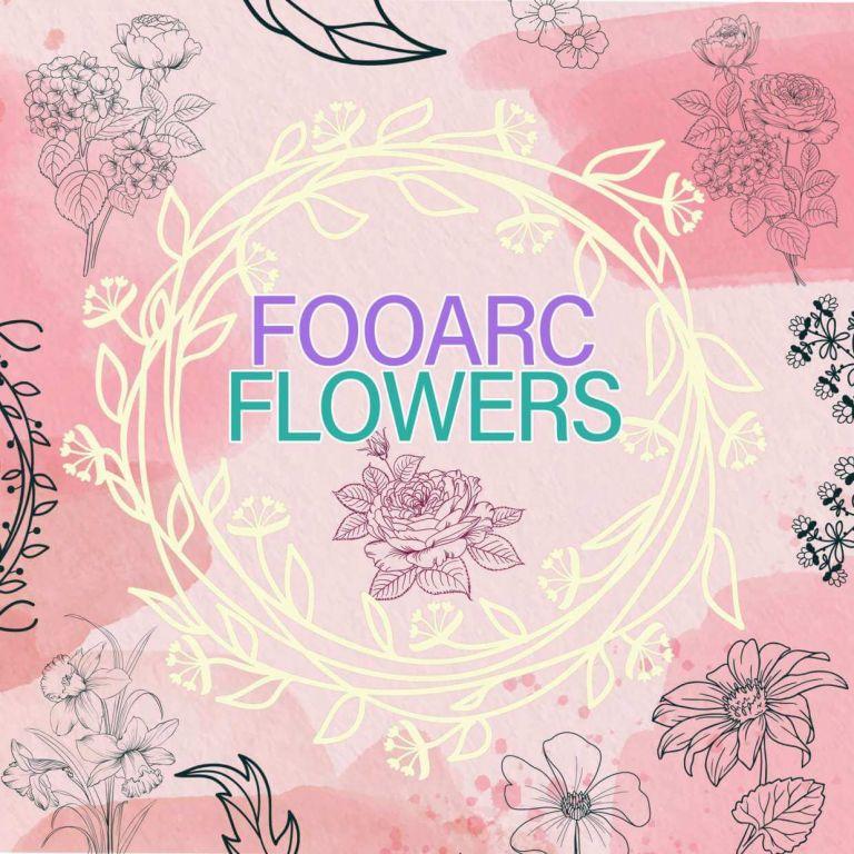 procreate flower brushes