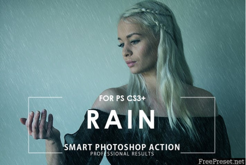 aksi photoshop hujan