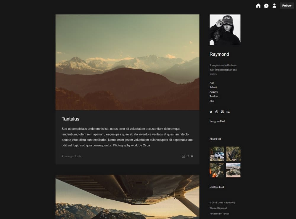 raymond-tumblr-theme-for-writer