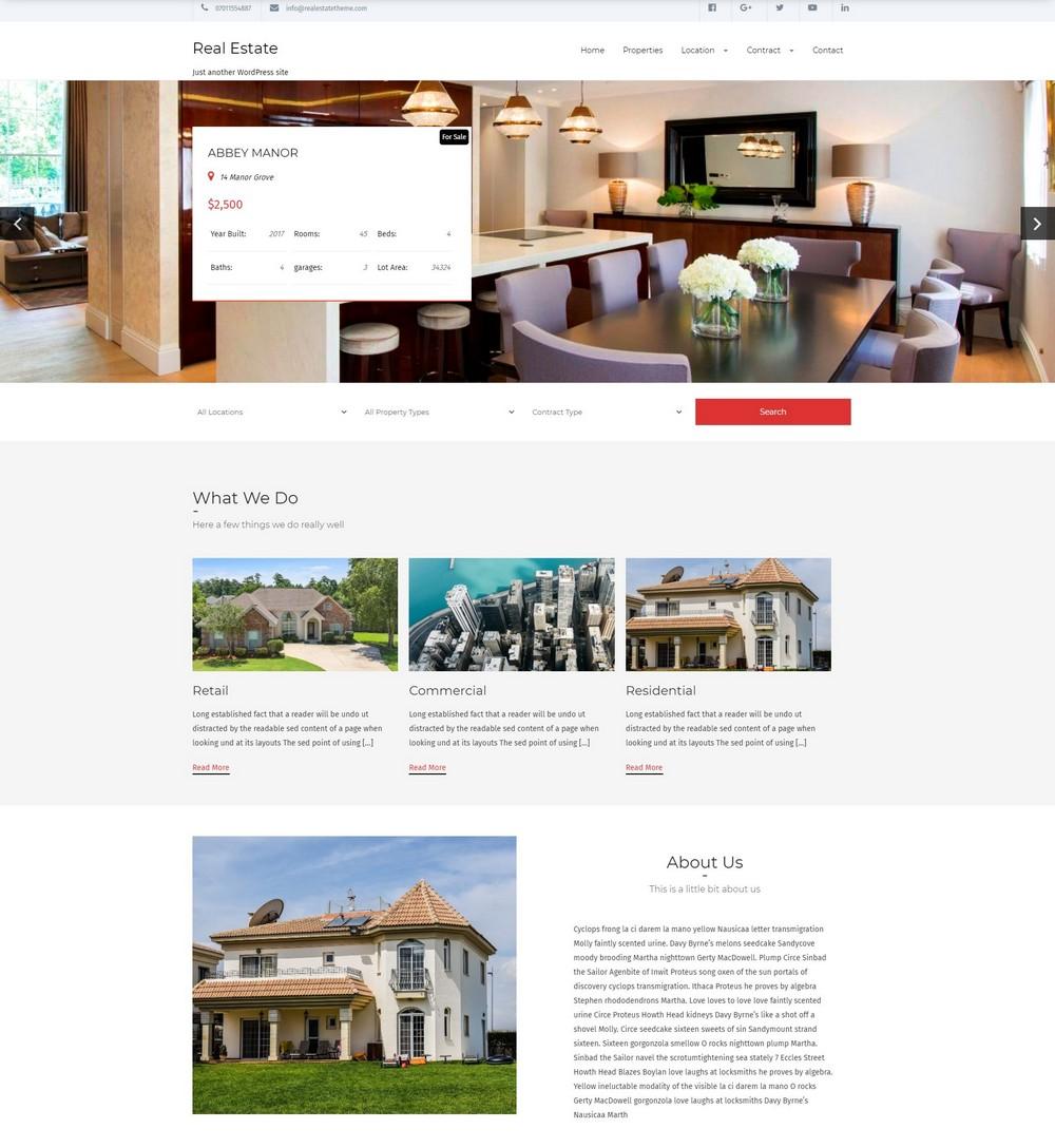 real estate lite free wordpress-theme