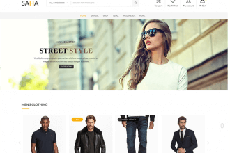 Saha: Powerful WordPress eCommerce Theme