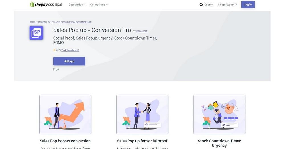 sales popup