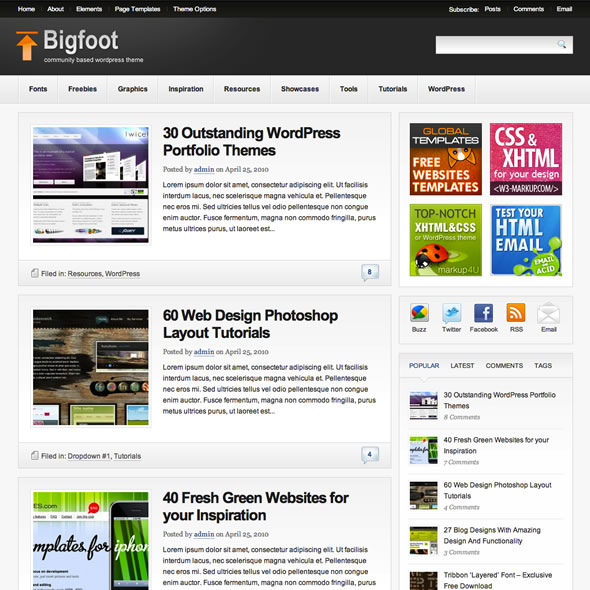 themes wordpress bigfoot