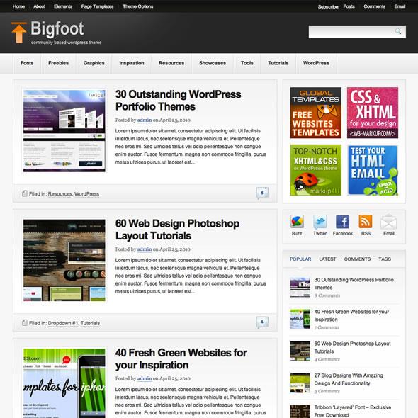 themes wordpress bigfoot