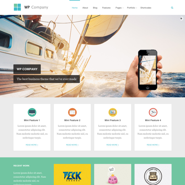 Theme Junkie wordpress premium theme: Company