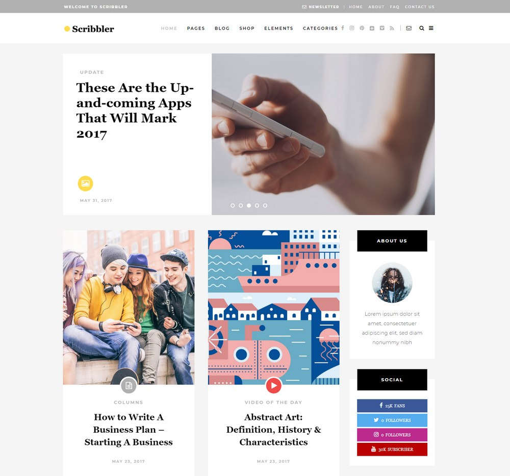 scribbler-easiest-wordpress-theme