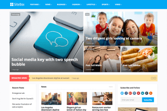 SiteBox – Multi-Layouts Magazine WordPress Theme