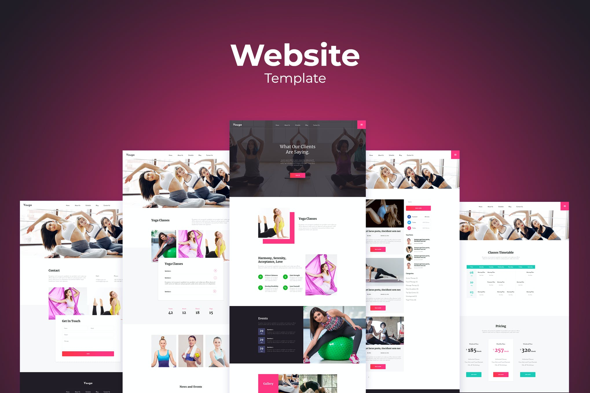 Sketsa Template Desain Web