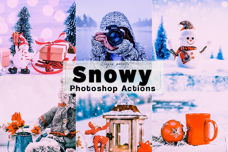 snowing effect photoshop