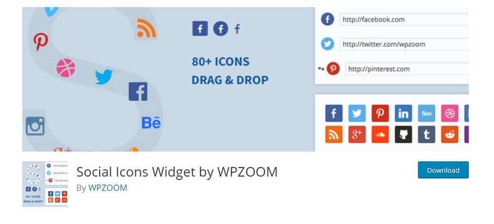 widget ikon sosial
