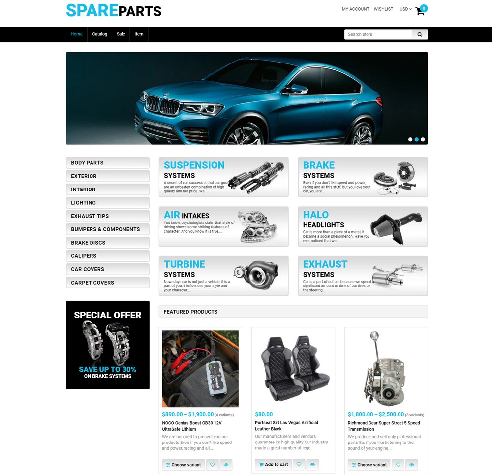 spare-parts- free shopify theme