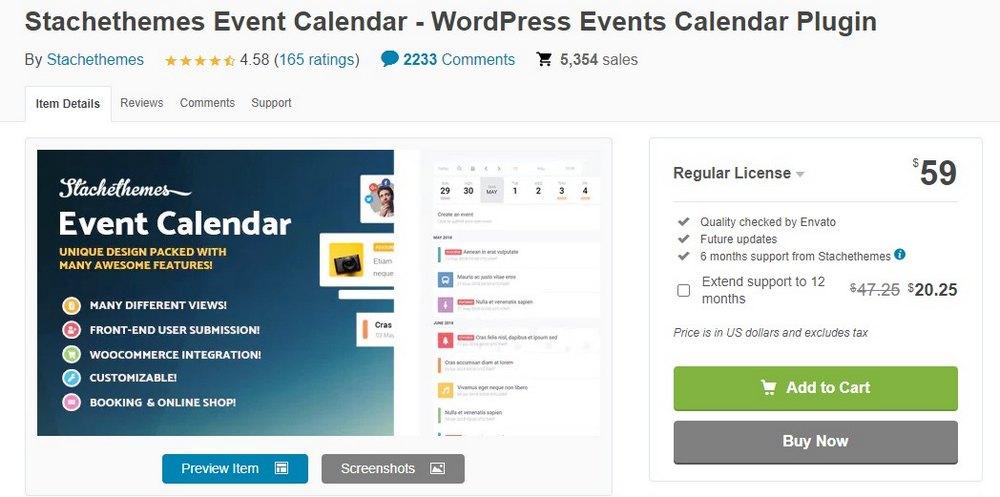 plugin kalender acara stachethemes