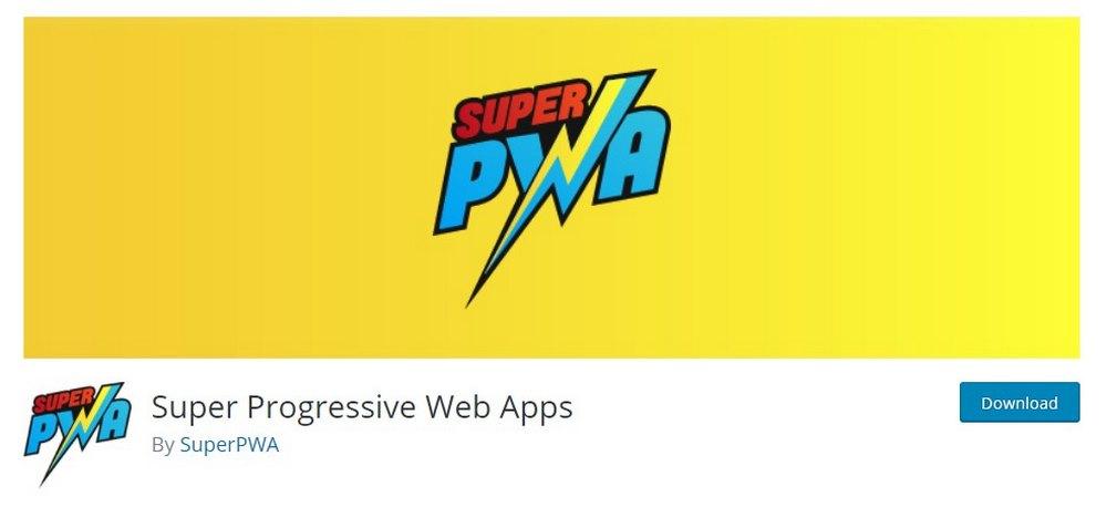 aplikasi web super progresif