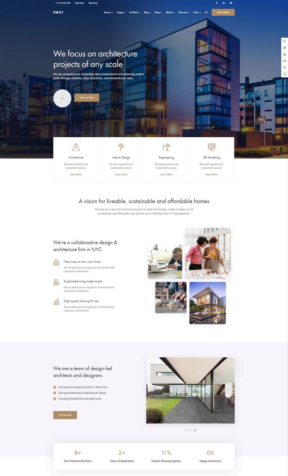 swaytheme-architecture-wp-theme