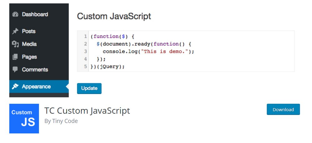 tc custom javascript