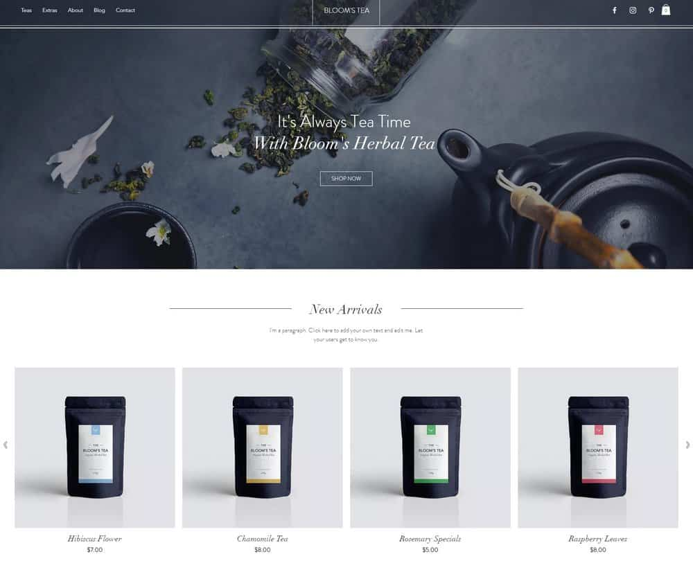 tea-shop-wix-theme