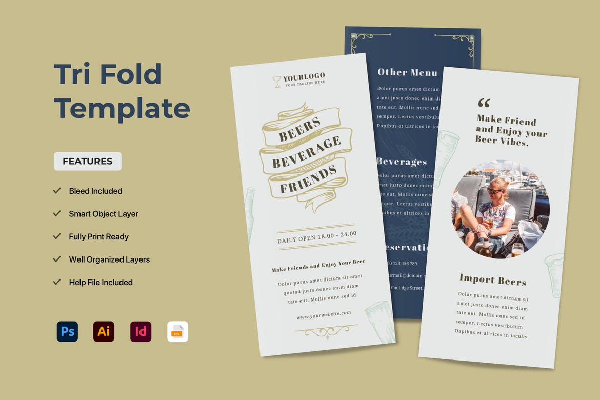 Best Tri Fold Brochure Templates For