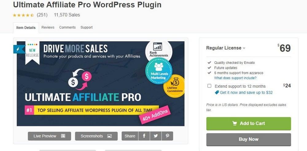 ultimate affiliate wordpress plugin