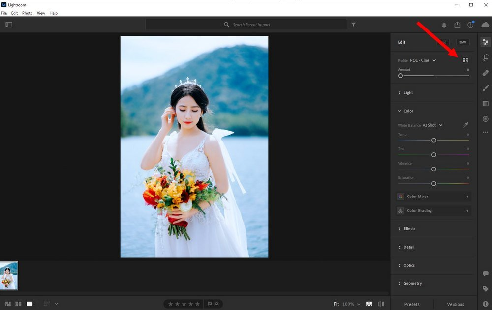 use LUTs in Lightroom CC 1