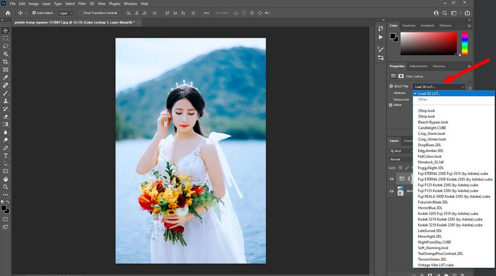 use luts in Photoshop 2