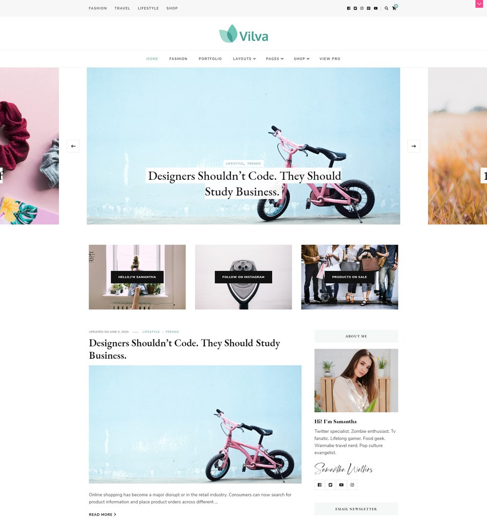 vilva-free-easiest-wordpress-theme
