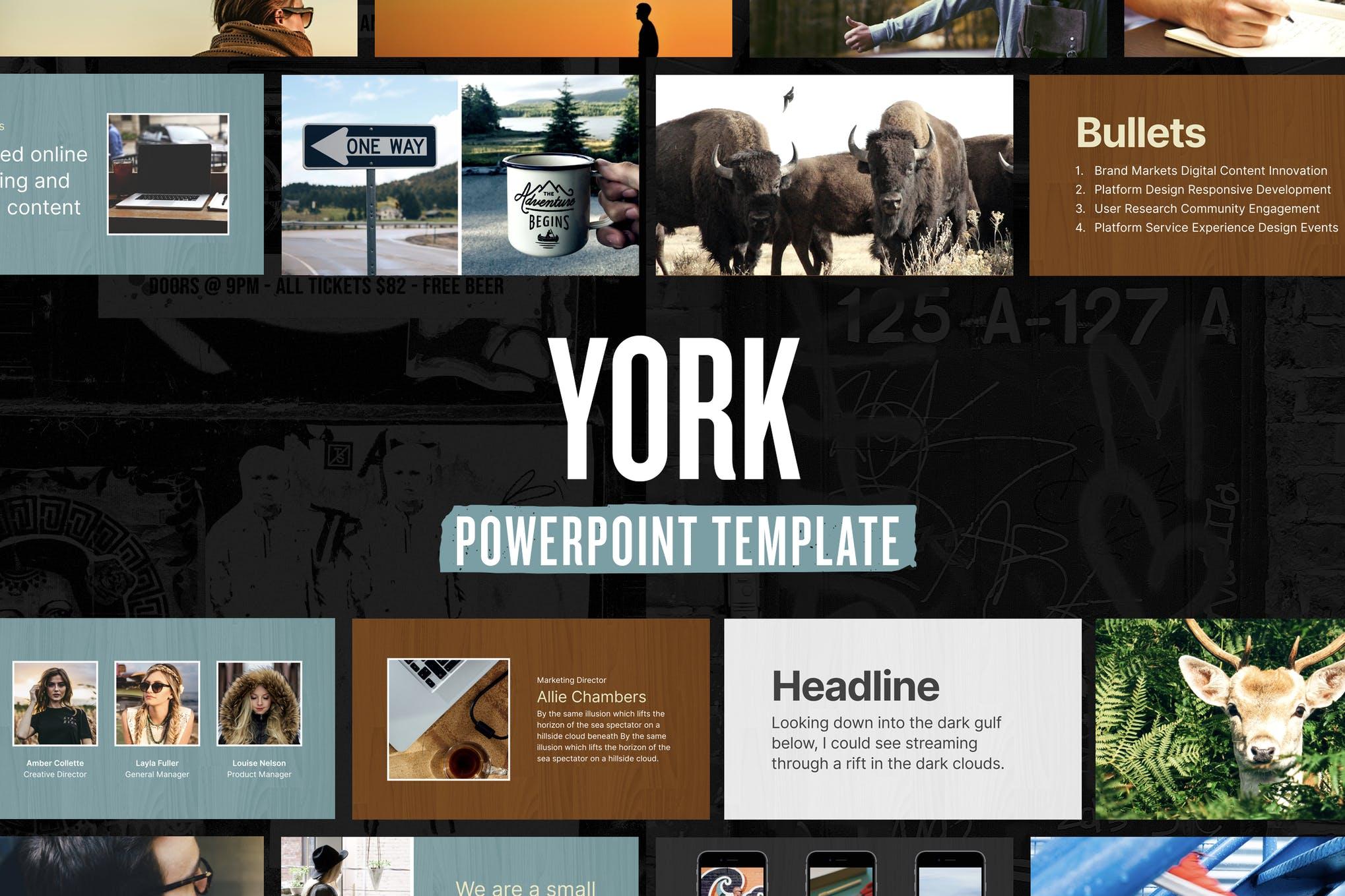 template PowerPoint antik