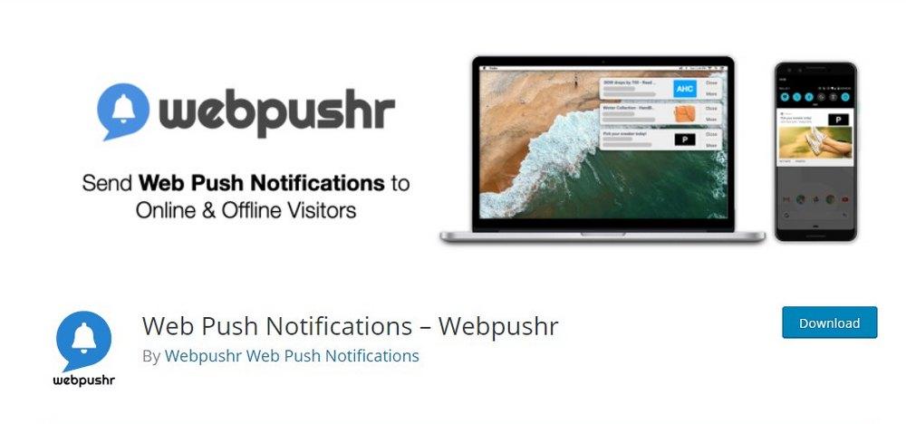 webpushr wordpress plugin
