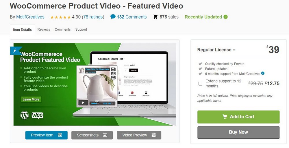 plugin video produk woo