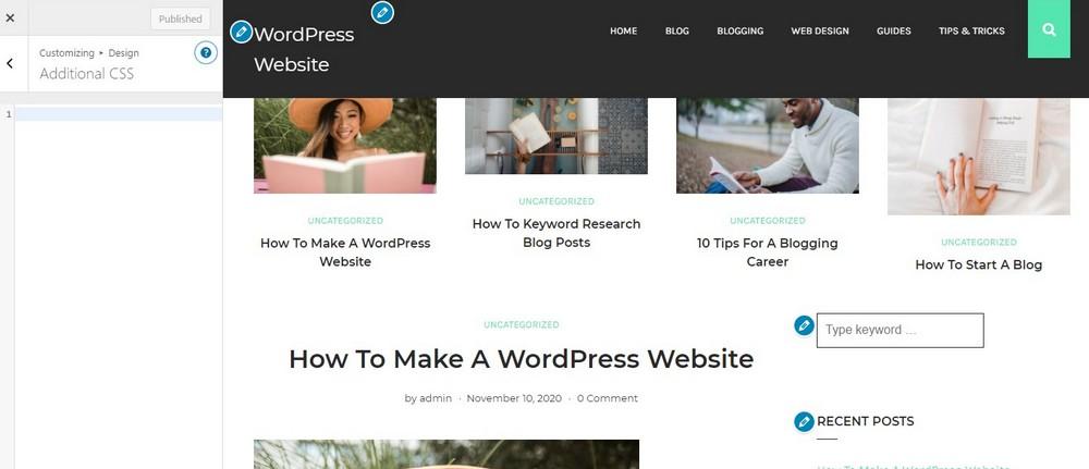wordpress edit css 2