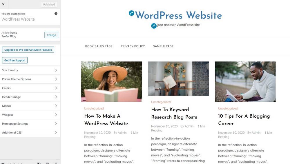 wordpress edit theme