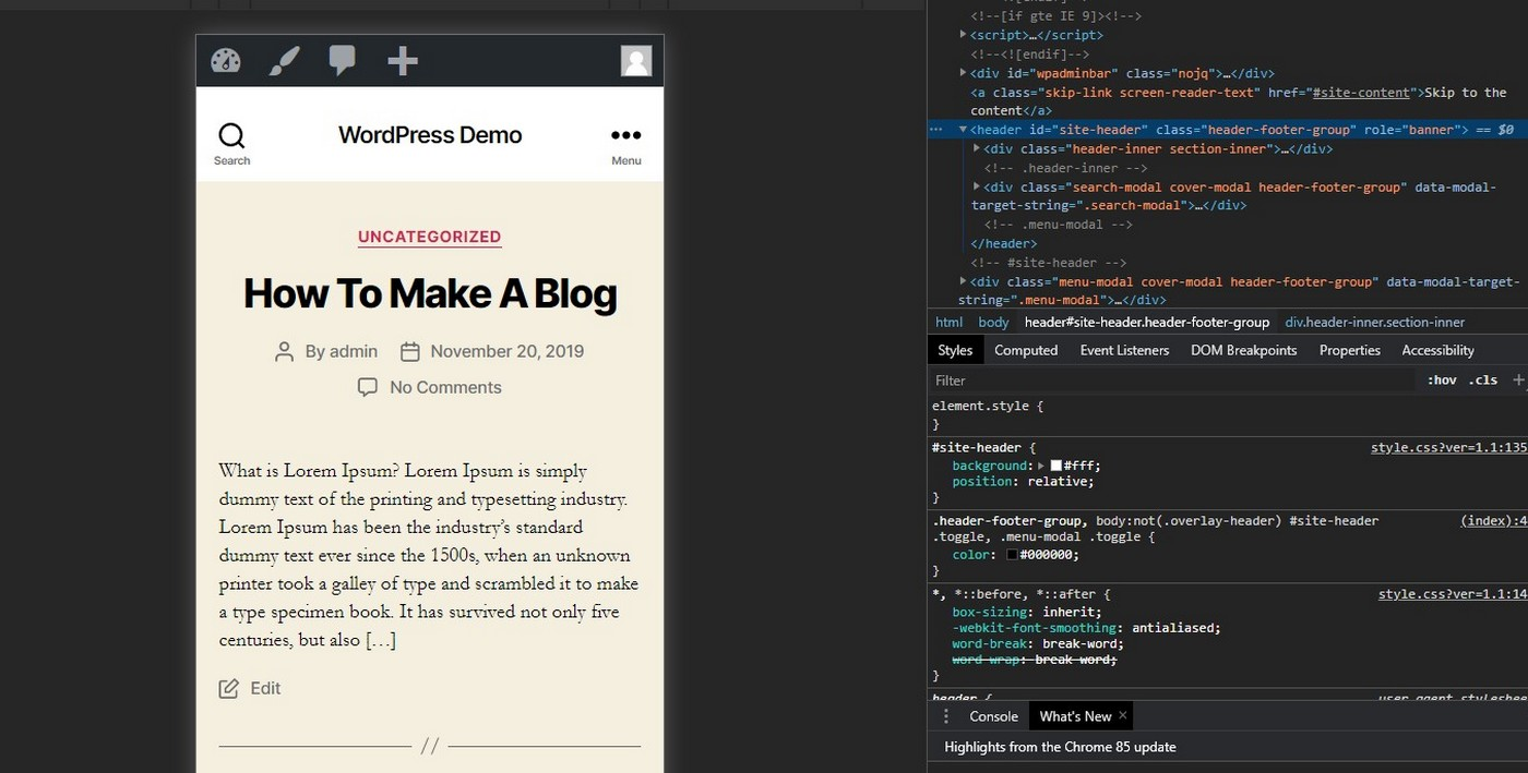wordpress menu - find id tags