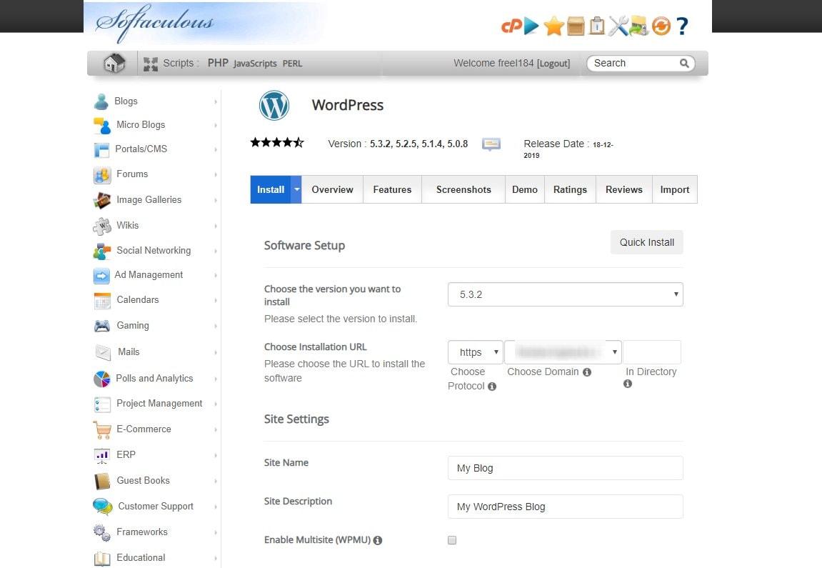 wordpress-one-click-install-2
