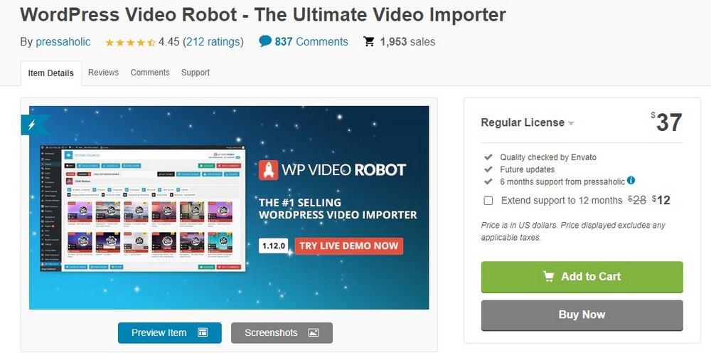 plugin robot video wordpresspes
