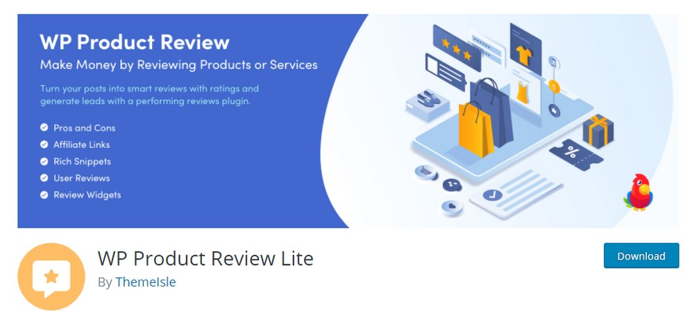 wp product review lite