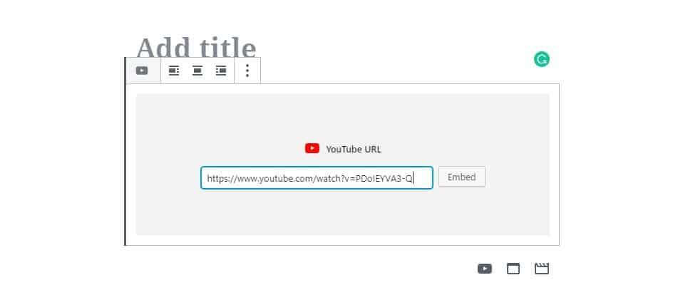 youtube-block-gutenberg-editor