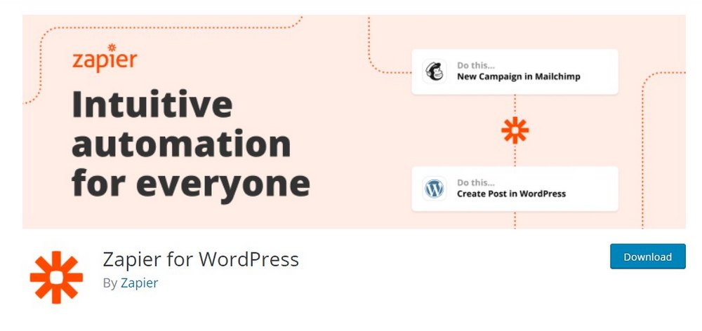 zapier wordpress plugin